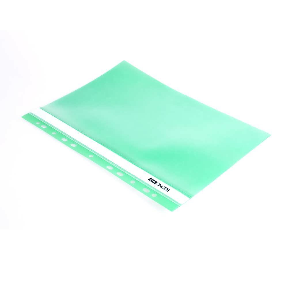 Папка-скоросшиватель А4 зеленая, с перфор.,фактура апельсин