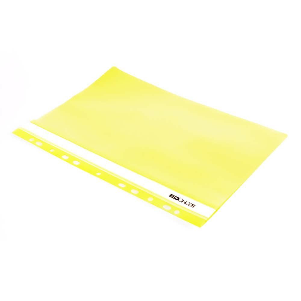 Папка-скоросшиватель А4 желтая, с перфор.,фактура апельсин