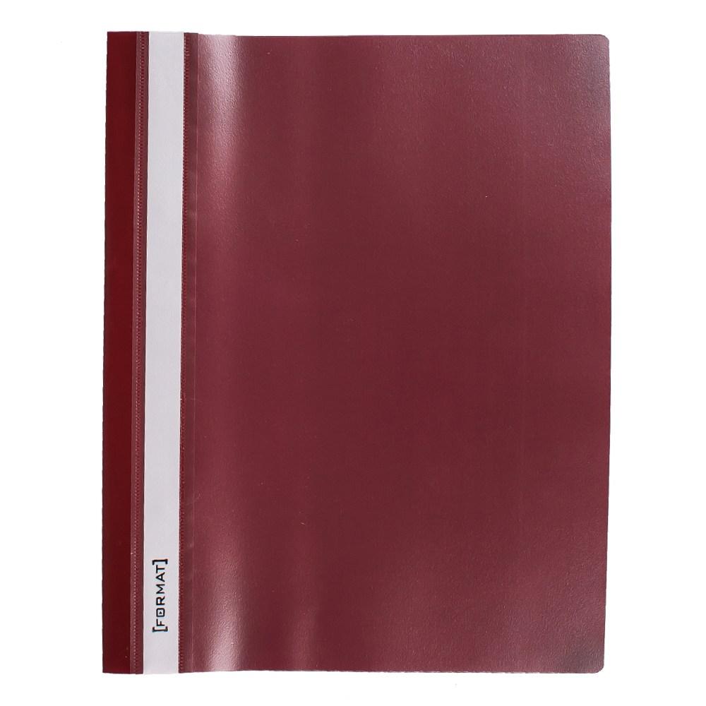 Папка-скоросшиватель A4 красная, без перфорации