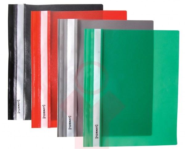 Папка-скоросшиватель A4 зеленая, без перфорации