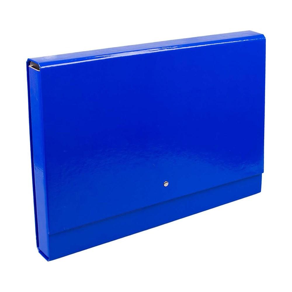 Папка-кейс на липучке А4  Академическая синяя