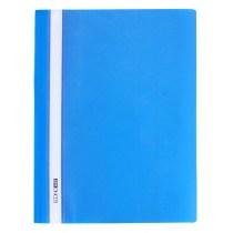 Папка-скоросшиватель А4 Economix без перфорации, фактура апельсин, синяя