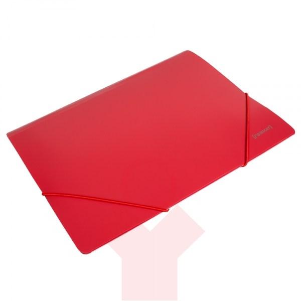 Папка пластиковая для документов на резинках  А4 FORMAT, красная