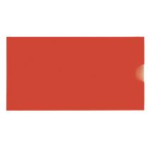 Папка-евроконверт Е65 горизонтальный, красный Economix