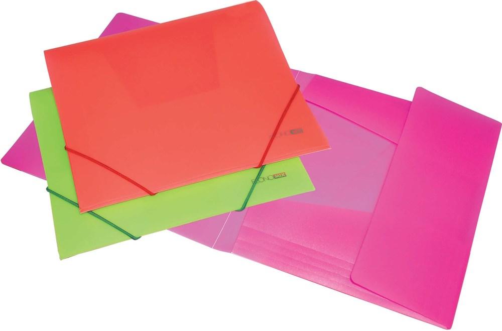 Папка на резинке B5 пластиковая непрозрачная Economix
