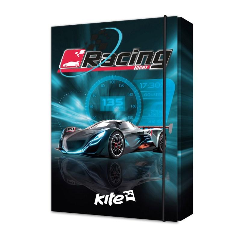 Папка для тетрадей В5 на резинке картон, Kite, Racing night