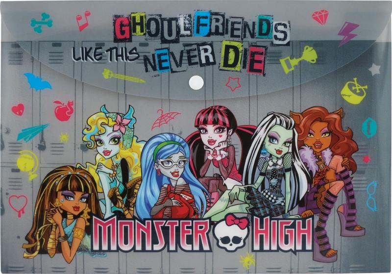 Папка на кнопке А4 Monster High