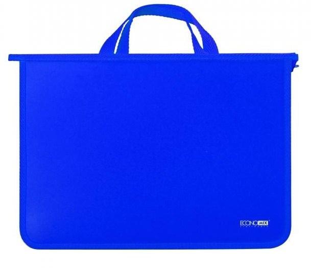 Портфель пластиковий на молнии, синий  ECONOMIX
