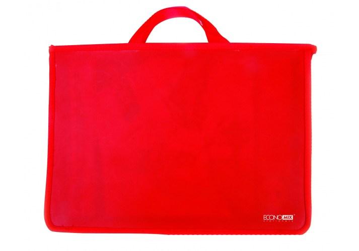 Портфель пластиковий на молнии, красный ECONOMIX
