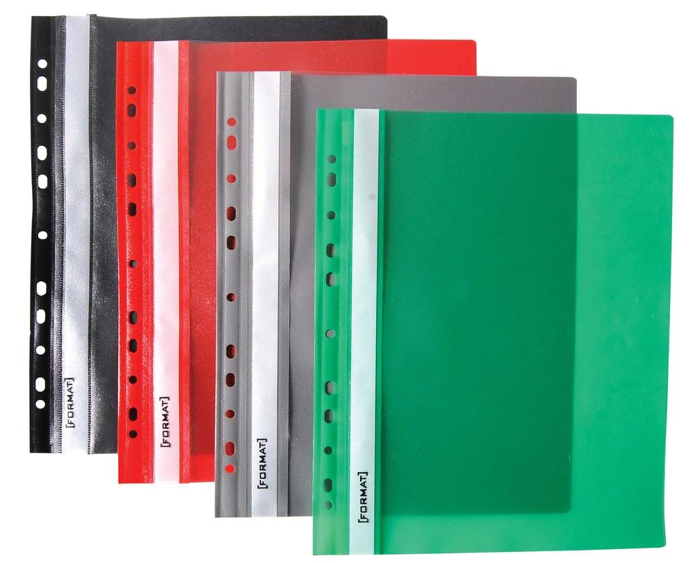 Папка-скоросшиватель A4 зеленая, с перфор.