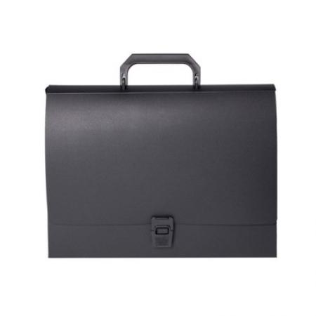 Папка-портфель А3 с замком черный