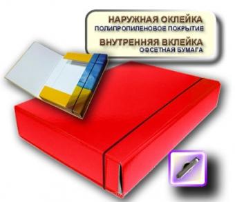 Папка-короб на резинке А4 красная