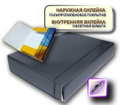 Папка-короб на резинке А4 черная