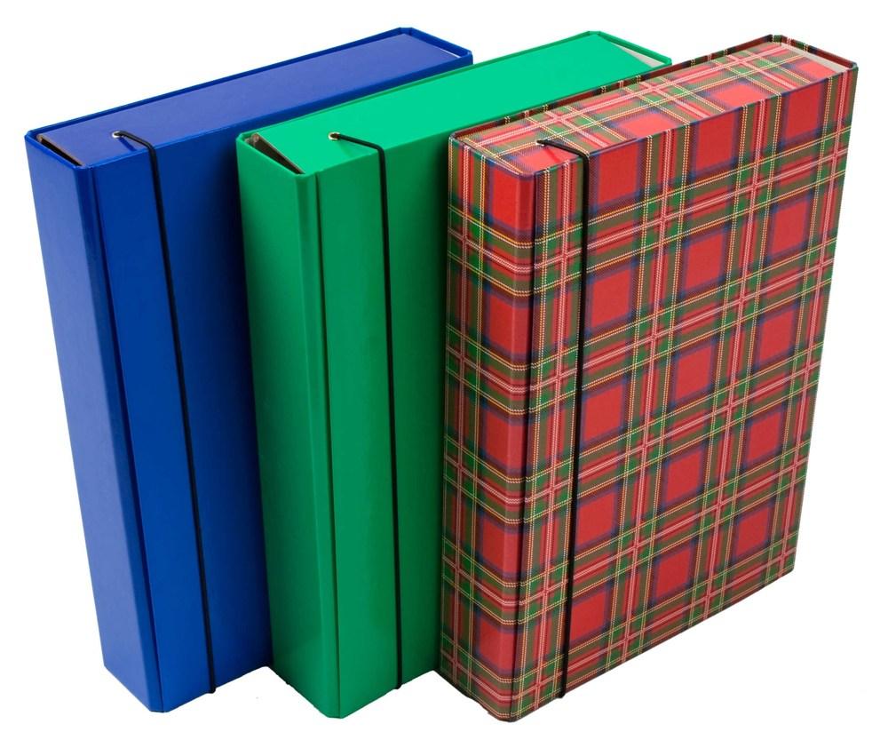 Папка-короб на резинке А4 шотландка