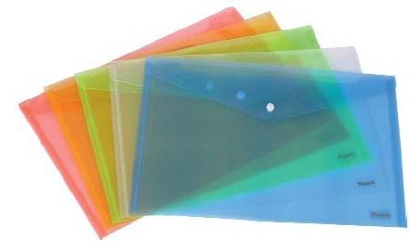 Папка на кнопке А4 пластиковая желтая  Axent
