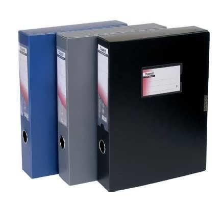 Папка-короб 60 мм синяя Axent