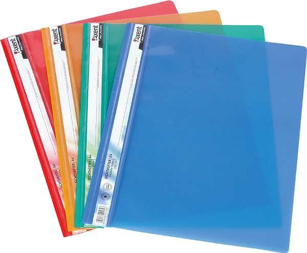 Папка-скоросшиватель синяя прозрачная Axent