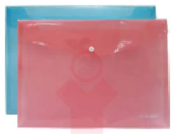Папка-конверт на кнопке А3 пластиковая прозрачная Economix