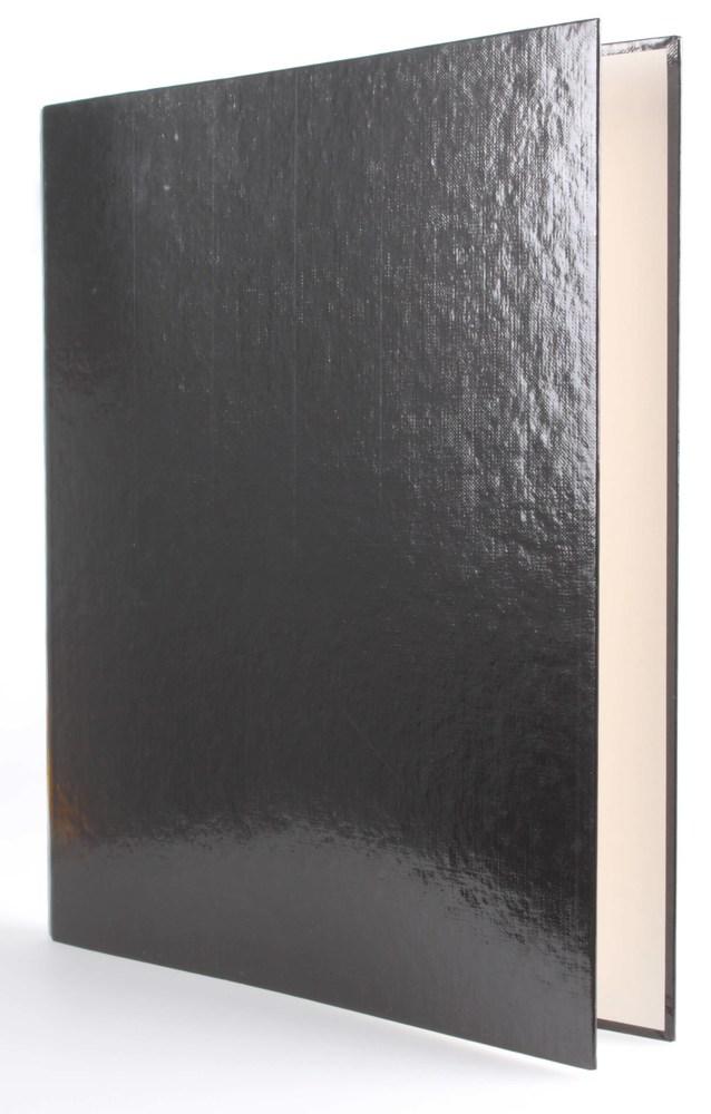 Папка  А4 20мм с боковым зажимом, черная