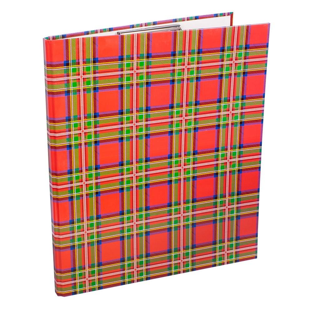 Папка  А4 20мм с верхним зажимом,шотландка