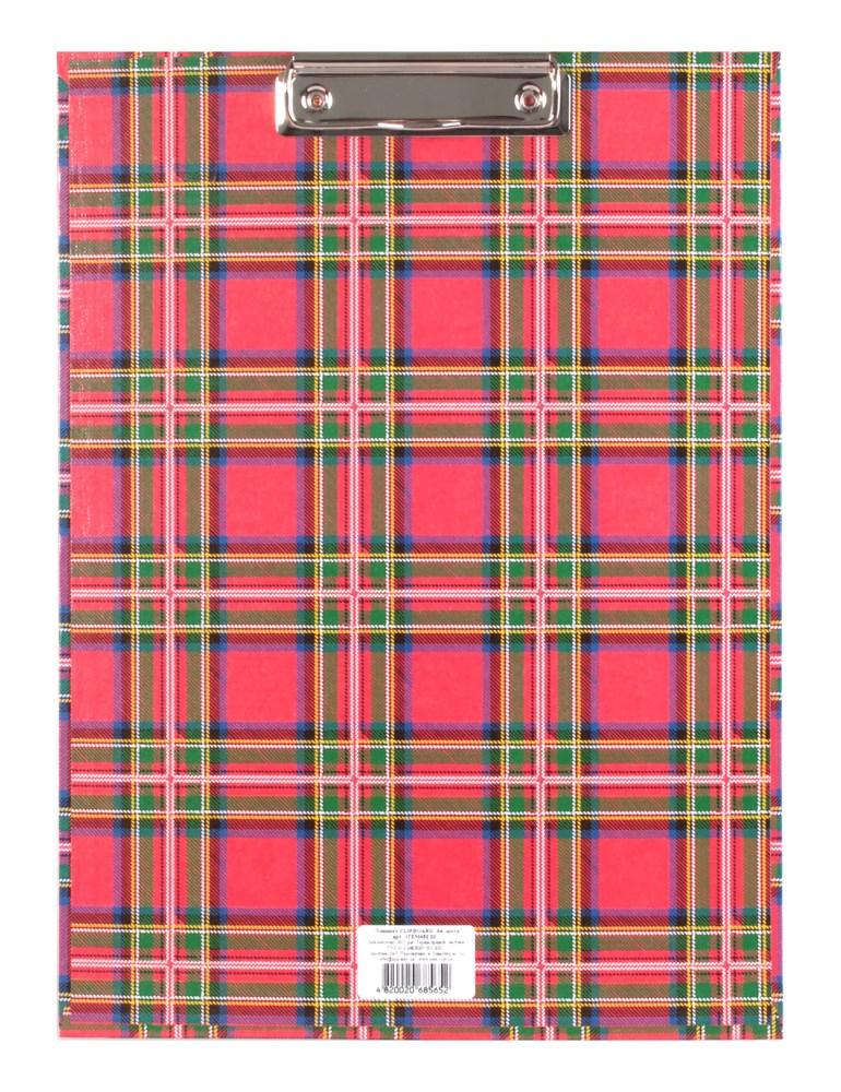 Планшет с зажимом   А4, шотландка