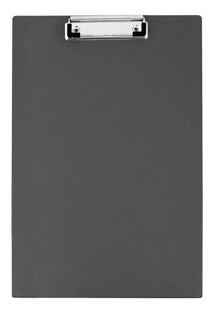 Планшет с прижимом А4, РVC, черный