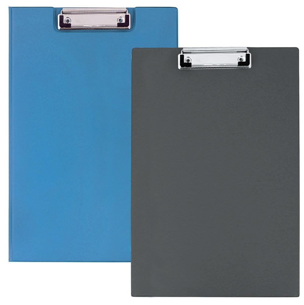 Папка-планшет с зажимом  А4, РVC, синяя