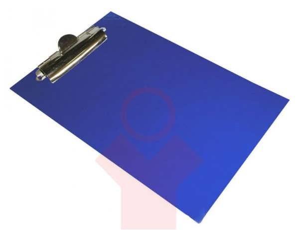 Планшет с зажимом  А5 ламинат, синий