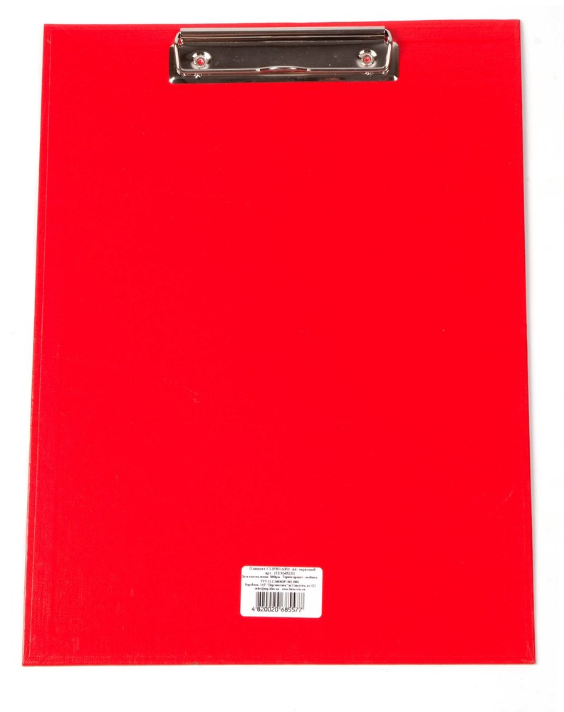 Планшет с зажимом  А5 ламинат, красный