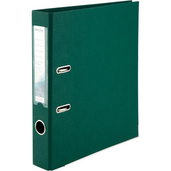 Регистратор 50 мм Delta (PP), двустор., темно-зеленый