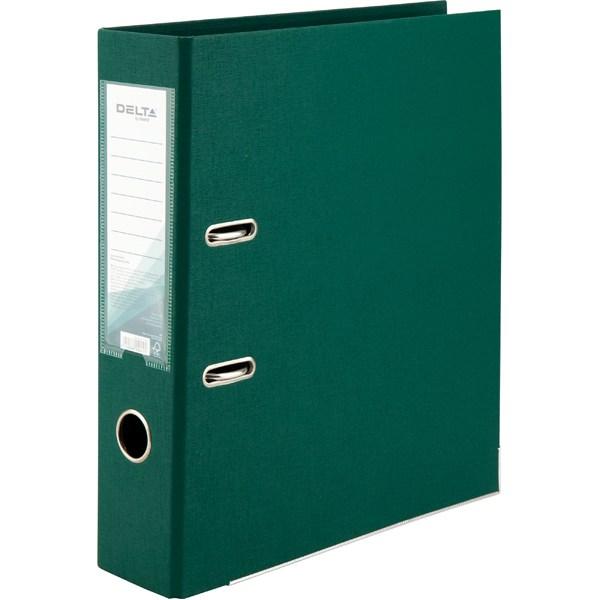 Регистратор 75 мм Delta (PP), двустор., темно-зеленый