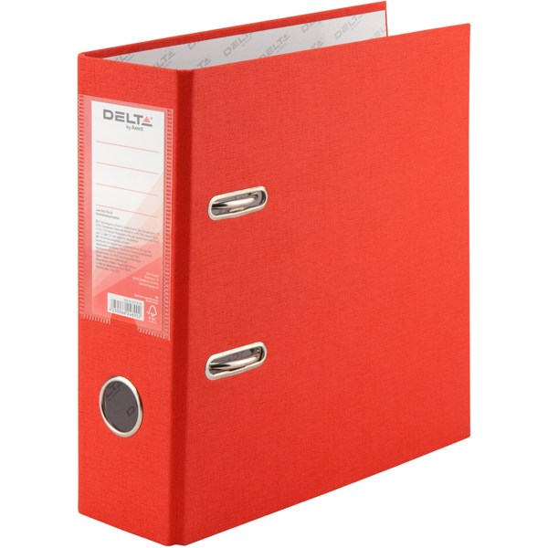 Регистратор A5 75 мм Delta (PP), одностор., красный