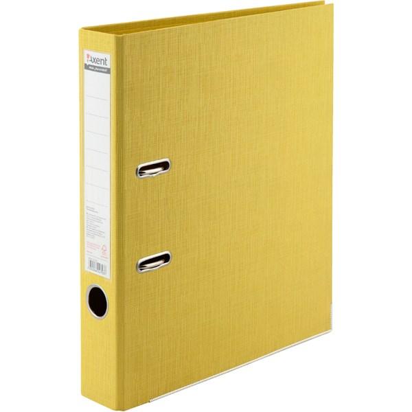Регистратор 50 мм Axent Prestige+ (PP), желтый