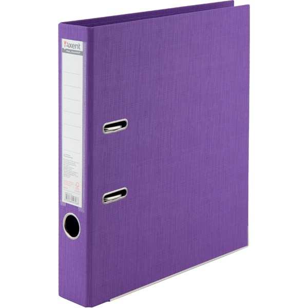 Регистратор 50 мм Axent Prestige+ (PP), фиолетовый