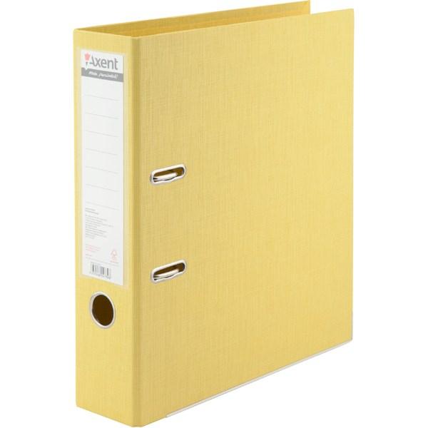 Регистратор 75 мм Axent Prestige+ (PP), желтый