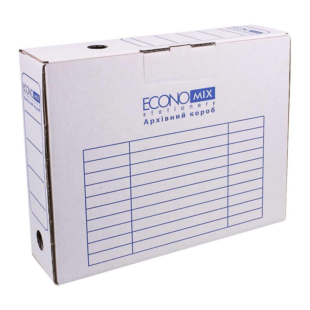 Бокс архивный,  80 мм Economix белый