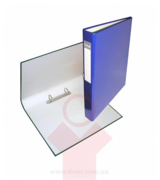 Папка А4 40мм на 2 кольца синяя