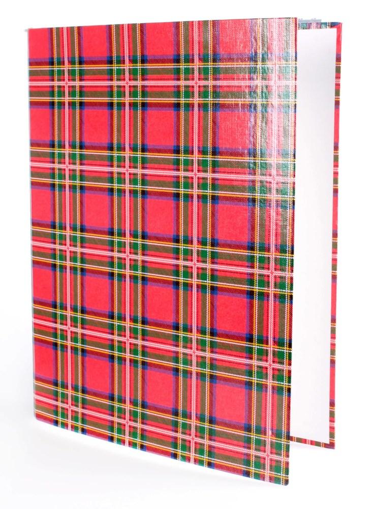 Папка А4 40мм на 2 кольца шотландка