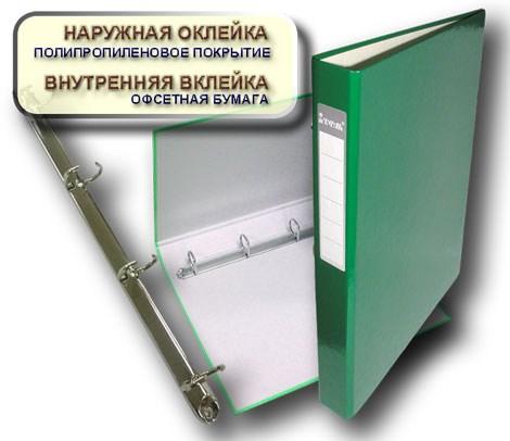 Папка А4 40мм на 4 кольца зеленая