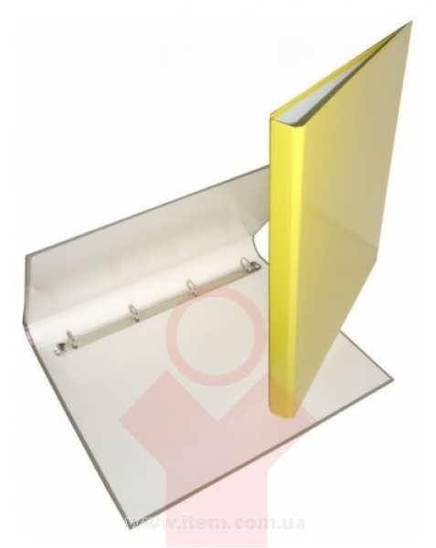 Папка А4 25мм на 4 кольца,желтая
