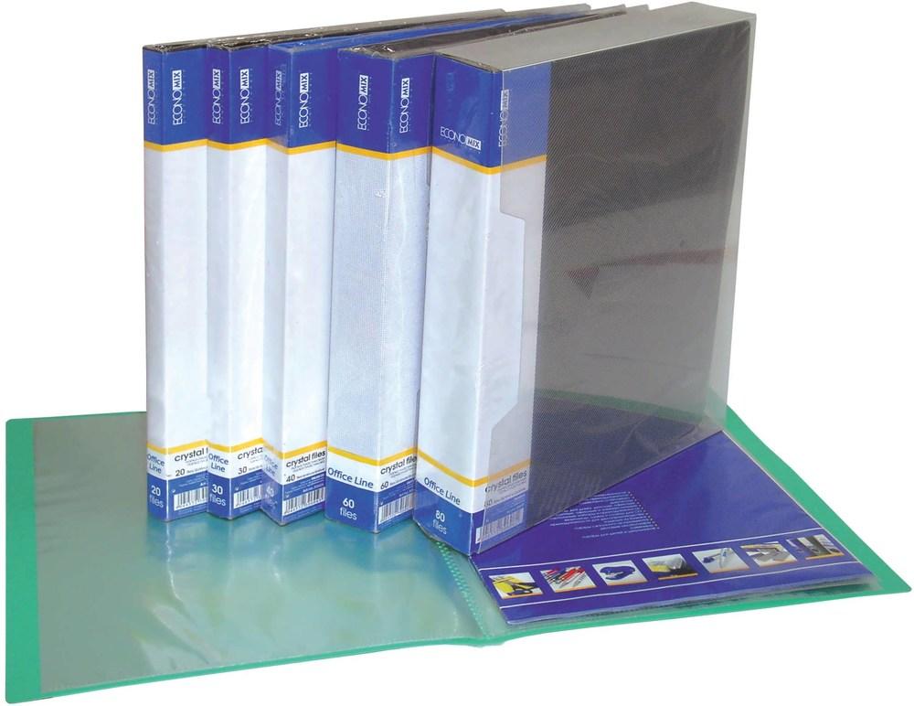 Папка-дисплей на 20 страниц Economix, цвет- ассорти