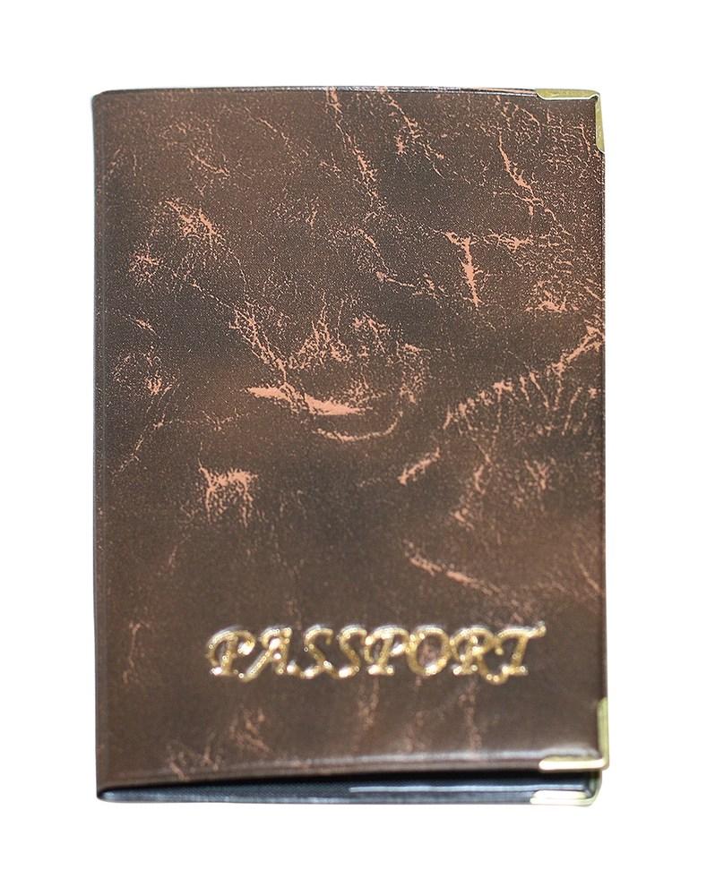 Обложка для заграничного паспорта золото