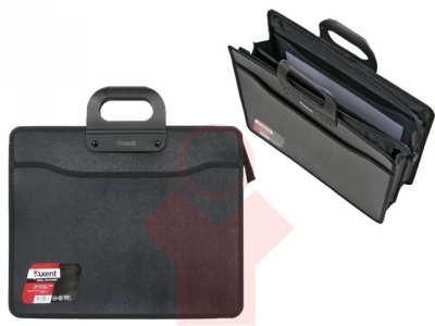 Портфель В4 на молнии, 3 отделения, черный Axent