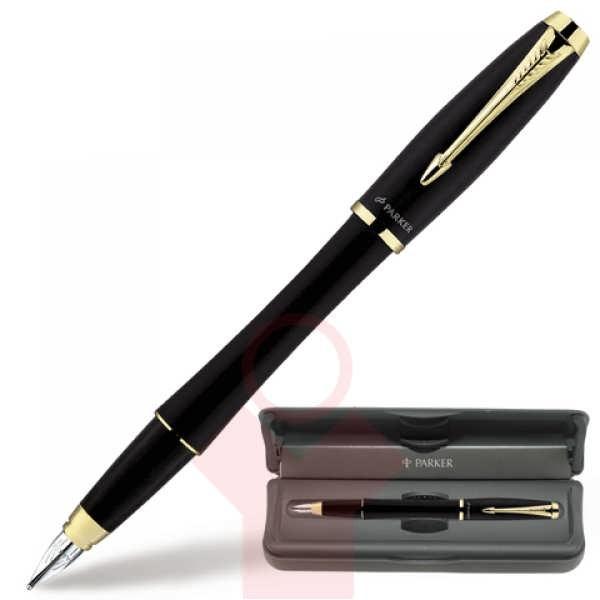Ручка-перо Parker Urban, матово-черная с позолотой, F 19