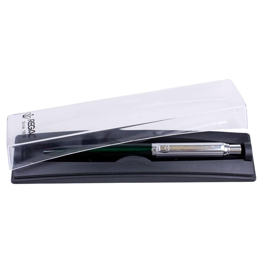 Ручка шариковая Regal PB10, в футляре, зеленая