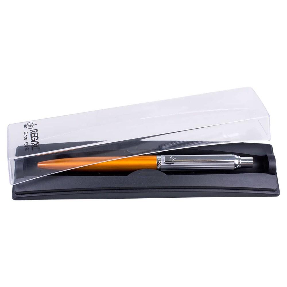 Ручка шариковая Regal PB10, в футляре,  оранжевая