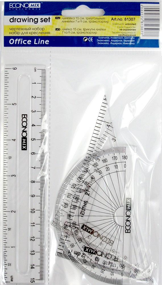 Набор линеек  (4 предмета), линейка 15 см