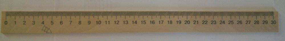 Линейка деревянная (шолкография) 30см