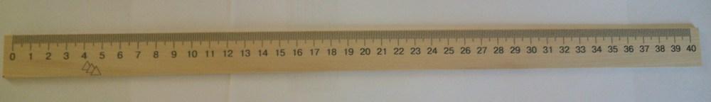 Линейка деревянная (шолкография) 40см