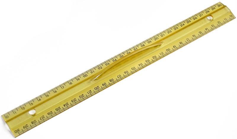 Лінійка 30 см, з тримачем, пластик, друкована (кульок з євро підвісом)